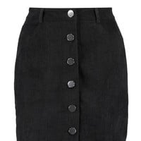Ellie Button Through Cord Mini Skirt | Boohoo