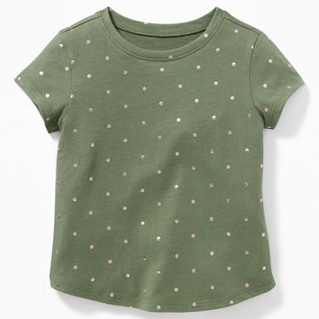 Printed Jersey Tee for Toddler Girls|old-navy