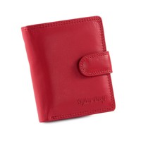 300952-RD Ladies Small Clutch Wallet in Red Leather | Style n Craft