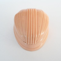 Vintage Celluloid Peach Coral Ring Box Display Art Deco Plastic Ring Box