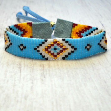 Beaded Bracelet Indian Bead Loom From Skbeadedjewelry On Etsy