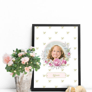 Personalized photo gifts, Custom poster, Baby wall decor, Custom photo gifts, Baby artwork, Custom photo print, Personalized baby girl gifts