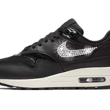 Women's Nike Air Max 1 + Crystals - Black/Summit White