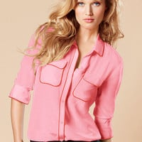 Silk Button-down Shirt - Victoria's Secret