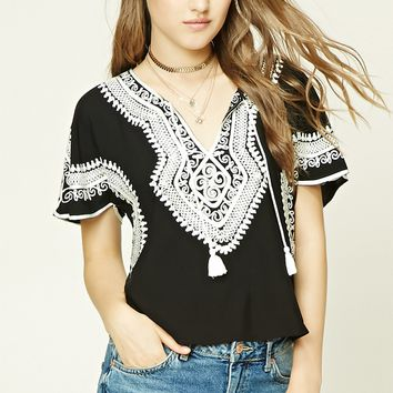 Embroidered Ornate-inspired Top