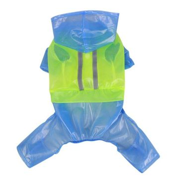 Impermeable Dog Raincoat Rain Slicker Waterproof Waterproof Jacket Hooded Pet Coat Clothing Pet Dog Rainwear