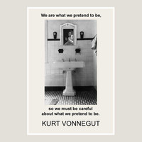 print, Kurt Vonnegut, quote, 15, black, white, literary, poster art, graphic art, writer gift, pop art, black and white, art prints, posters