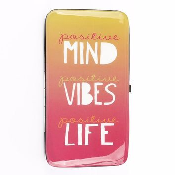 Positive Vibes Sunset Case Wallet