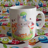 Cute Tonari no Totoro Ceramic Mug Coffee Tea Cup Unique Anime My Neighbor Miyazaki Studio Ghibli (2)