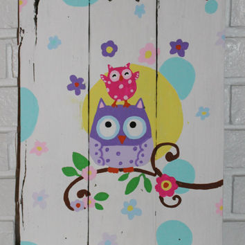 Rustic Owl Children's Sign