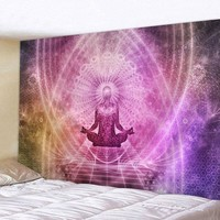 Wall Hanging Tapestry Mandala Polyester Boho Beach Towel Cloth Budha Psychedelic Tapestry for Home Bedroom Decor