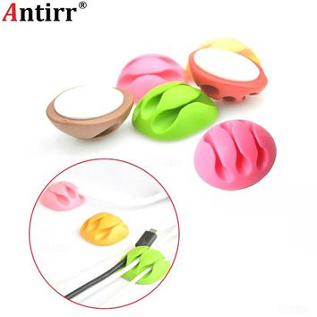 Colorful phone Cable Winder clamp protector Earphone Tie Organizer USB Charger Wire Cord Data line Tidy Management Bobbin Winder