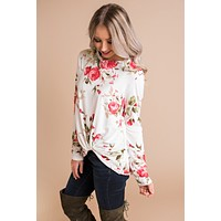 I Pick You Floral Top (Ivory)