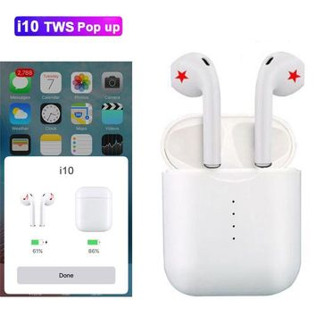 pop up can choose i10 tws i10s tws wireless charge support Earphones Wireless earphone Bluetooth 5.0 Earbuds
