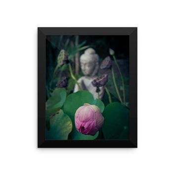 Buddha Flower Framed photo paper poster