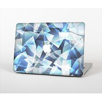 The Vector Abstract Shaped Blue Overlay V3 Skin Set for the Apple MacBook Air 11""