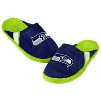 DCCK8X2 NFL Seattle Seahawks Jersey Slippers [Men's X-Large - 13-14 US]