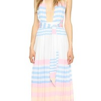 Field Stripe Crinkle Maxi Dress