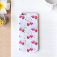 Cherry Case Ultrathin Cover for iPhone 5 6 6s Plus