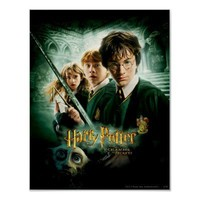 Harry Potter Ron Hermione Dobby Group Shot Poster from Zazzle.com