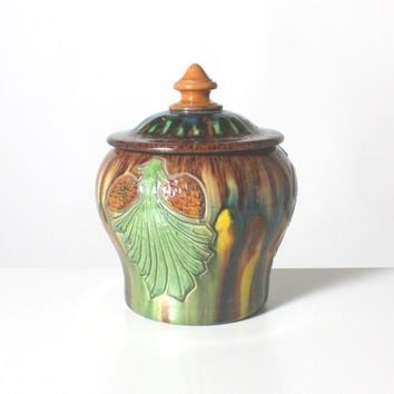 Flemish Torhout Pottery Jar (Nature Design)
