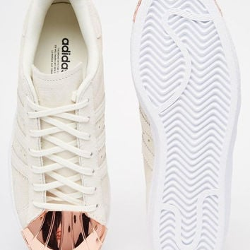 Adidas Originals Superstar 80s Rose Gold Metal Toe Cap Sneakers