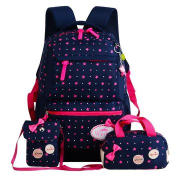 School Backpack Girl School Bags For Teenagers  Set Women Shoulder Travel Bags 3 Pcs/Set Children Bags Rucksack Mochila Knapsack AT_48_3