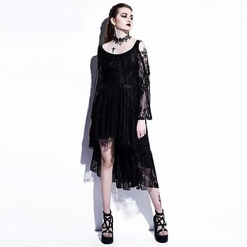 The Vampiress Victorian Gothic Lace Dress