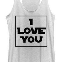 STAR WARS I LOVE YOU BOX TANK TOP JUNIORS T-SHIRT
