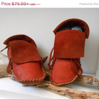 SALE Short Moccasins, Traditional Native American Plains Style, Custom Made to Order, Handmade, Handsewn by Oglala Lakota, Powwow, Earthing