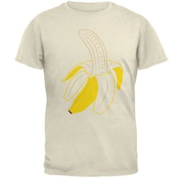 ESBGQ9 Halloween Fruit Peeled Banana Costume Mens T Shirt
