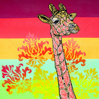 Giraffe -  Zentangle Art Print
