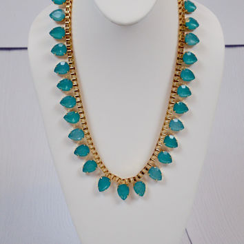 No Tears Here Necklace: Turquoise