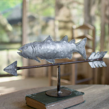 Table Top Zinc Weathervane Fish