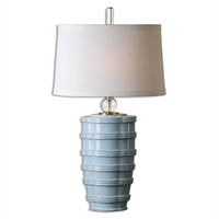 Uttermost Sassinoro Light Blue Table Lamp