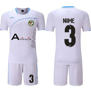 Team customization men kids Soccer Jerseys Set Survetement Football Kits Adult children 2018/19 camiseta futbol Uniforms Suit
