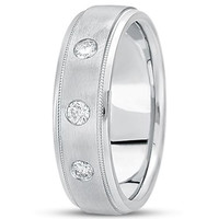 0.21ctw Diamond 14K Gold  Wedding Band (7mm) - (F - G Color, SI2 Clarity)