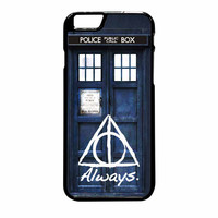 Tardis Police Box Deathly Hallows Harry Potter iPhone 6 Plus Case