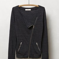 Islington Moto Jacket by Anthropologie Dark Grey S Jackets