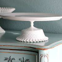 "16"" Cake Stand / White Ceramic Cake Stand Cupcake Stand / Wedding Cake Stand for White Weddings / Cake Platter Pedestal"