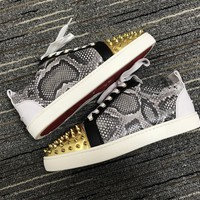 Christian Louboutin Cl Louis Junior Spikes Orlato Sneakers Reference 4 - Best Online Sale