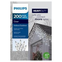 Philips 200-Count Heavy Duty Clear Icicle Lights