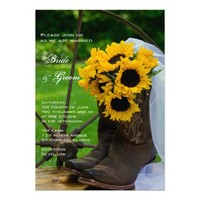 Rustic Sunflowers Country Wedding Invitation from Zazzle.com