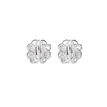 Monogram Initial Stud Earrings