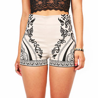 Mighty Vine High Waist Shorts - High Waist Shorts at Pinkice.com