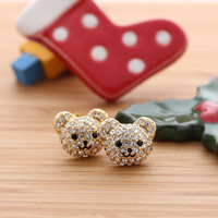 TEDDY BEAR earrings,2colors | girlsluv.it