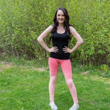 Coral Ombre Activewear Pants