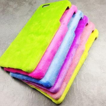 Fur velvet phone case