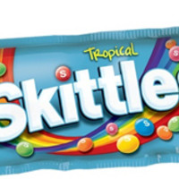 Skittles Tropical Fruit Candies 2 oz Bags - Pack of 12