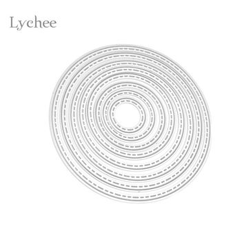 DIY Circle Metal Cutting Dies Stencils Embossing Card Scrapbooking Album Decoration Craft Die Cutting Template Folder Suit